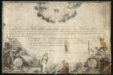Society of the Cincinnati certificate for James Williams of Virginia signed by George Washington, president of the...